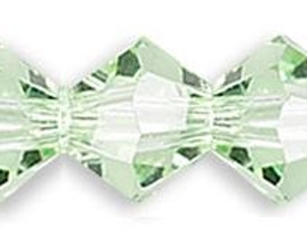 4mm Swarovski Chrysolite Crystal Bicone  ( 5328 ) Xilion Qty 24