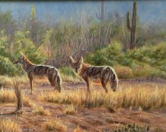 Desert Nomads-Coyotes (original oil painting)