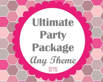 Ultimate Party Package- ANY THEME from my shop