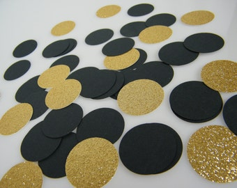 Confetti Gold Glitter & Black Party Decoration, Bachelorette Party Table Scatter, Graduation, 30th, 40th, 50th, 60th Birthday Party
