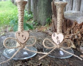 Rustic Country Chic Wedding Toasting Glasses