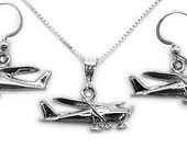 Cessna 172-182 Silver Sterling Silver Pendant Jewelry