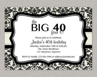 40th birthday party invitations – Etsy
