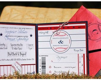 Baseball Wedding Invitation / Baseball Bridal Shower Invitation