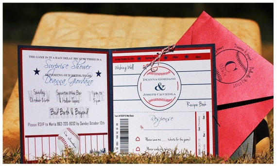 Baseball Wedding Invitation / Baseball Bridal Shower Invitation
