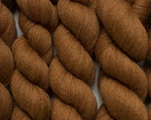 Nutmeg Cinnamon Lace Weight Reclaimed Extra Fine Merino Yarn, 3431 Yards Available