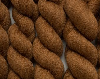 Nutmeg Cinnamon Lace Weight Reclaimed Extra Fine Merino Yarn, 795 Yards Available