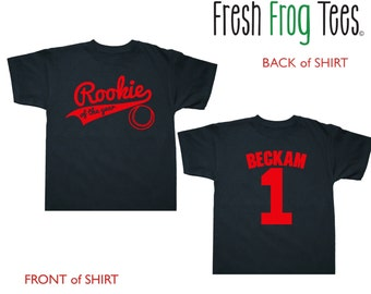 First Birthday Rookie of the Year shirt for kids - any age and name - pick your colors!