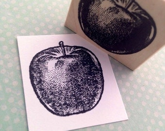 The Perfect Apple Wood Mounted Rubber Stamp Image 787