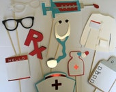 NURSES  or DOCTOR photo booth props for grads and hospital events. End of year sale!!!