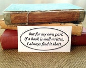 Literary Sticker -  Jane Austen - Pride and Prejudice - Book Quote - Readers Gift - LS002