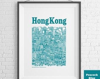 Hong Kong Illustrated Screenprint
