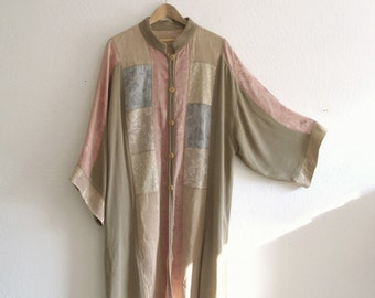Art Deco inspired Opera Coat/ Bohemian long patchowrk Kimono Dress