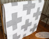 Custom Baby Crib Bedding- Plus Quilt- Baby Quilt- Gray- READY TO SHIP
