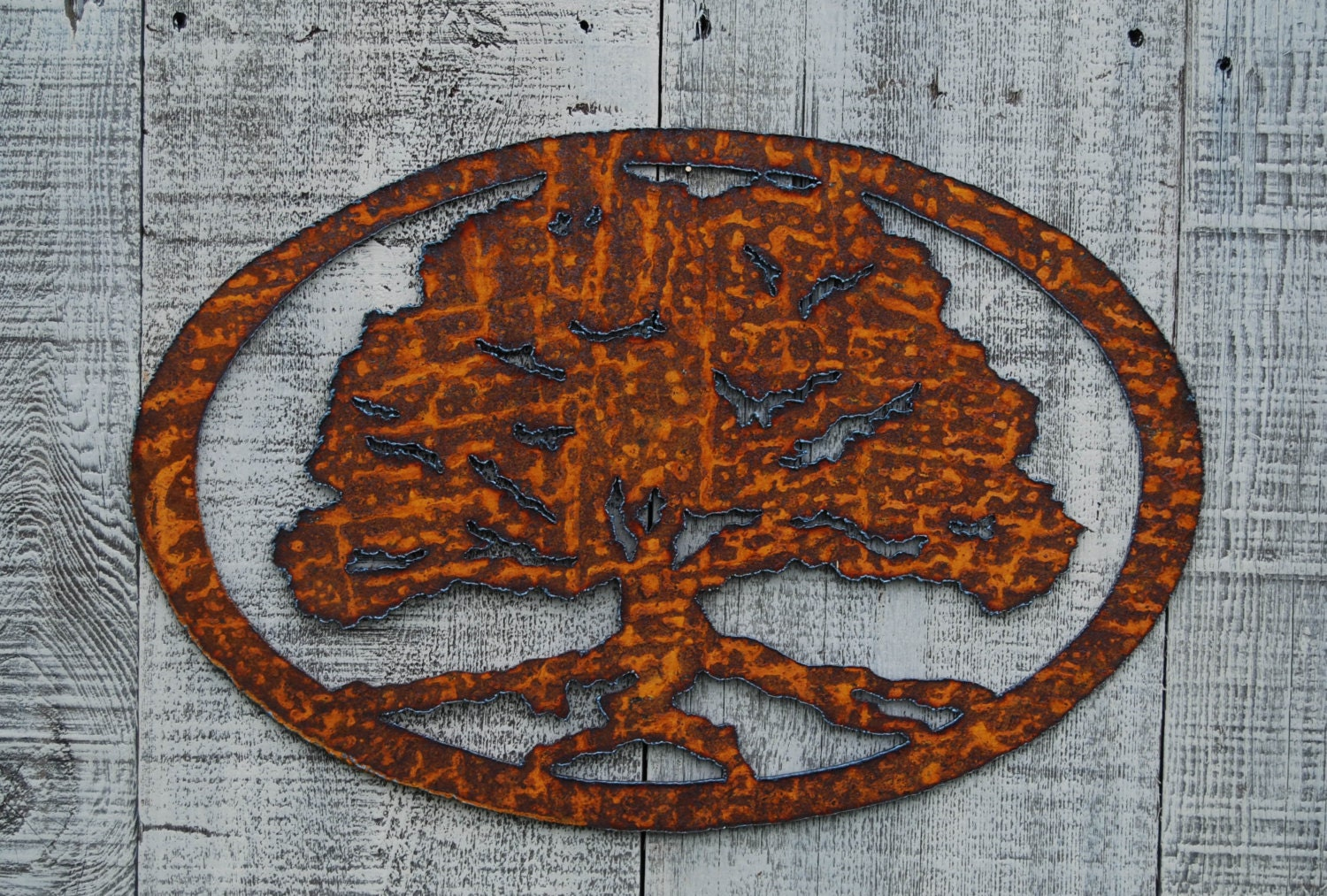 a784d9f894 Metal Oak Tree Wall Art - Ronniebrownlifesystems