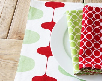Mid Century Modern Holiday Placemats - Set of 4