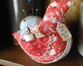 Primitive Bird Pin Keep Pin Cushion Sewing Notions Keep