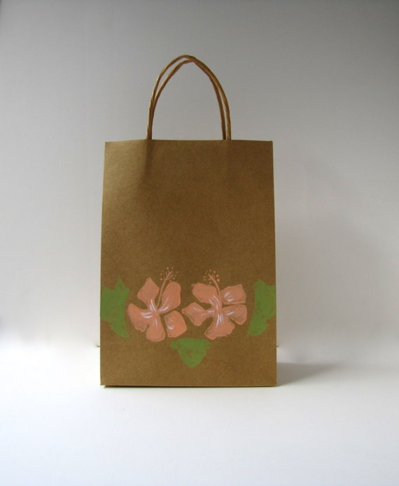 Items Similar To Destination Wedding Welcome Bags Hibiscus Gift Bags Flower Welcome Bags On Etsy