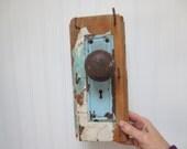 Shabby Chic Door Knob and Lock Key Hook