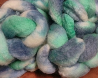 4 oz.  Bluefaced Leicester (BFL) wool roving; Carolina Shore