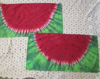 Watermelon Pillowcases-  You choose if you want one or two- Can be dyed in Standard, Queen, or King size- 300