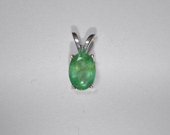 7x5 Oval Emerald pendant