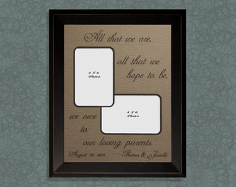 Gift for Parents, All That We Are and All That We Hope To Be, Mother of the Bride, Father of the Bride, Parents Thank You Gift, Personalized