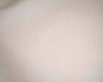 White Stretch Cotton Pique - 44 inches