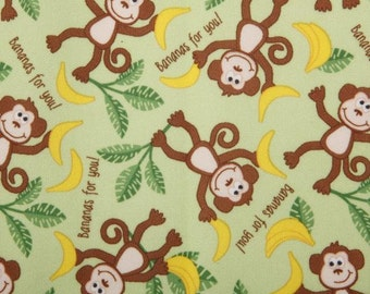 PUL - Monkeys - Diaper Cut  21 x 24