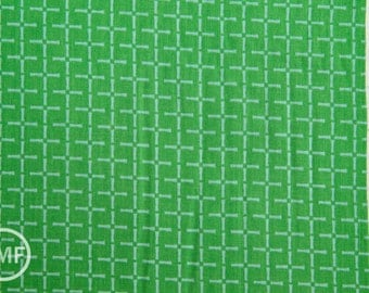 Charms Bamboo in Green, Ellen Baker for Kokka Fabrics, Double Gauze Cotton Fabric, JG-42100-102B