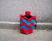 SALE ... size small ..JESTER ready.to.ship - crocheted rock climbing chalk bag