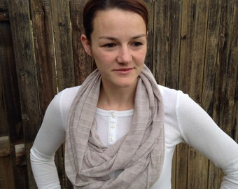 Knit Infinity Scarf Taupe
