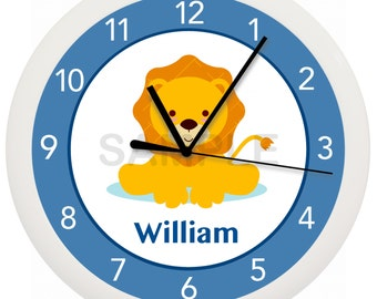 Lion Nursery Wall Clock 10 Inches