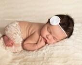 Newborn Sand Stretch Lace Leggings, baby pants, stretch pants, newborn clothing, baby girl, photography prop, ivory