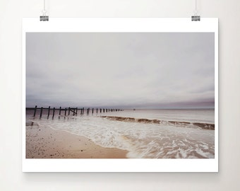 ocean photograph beach photography ocean print Norfolk photograph beach house decor beach print pastel home decor coastal print