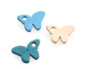 50% SALES Large Ceramic Butterfly, Butterfly Beads, Butterfly Charms Pendant C 10 273