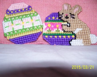 Easter Bunny And Egg Magnet Set