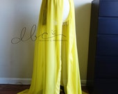 Vivian gown yellow maternity Gown/Sheer maternity gown/chiffon maternity dress/Chiffon gown/bridal gown/wedding gown/modeling/senior prop
