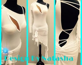White Latin Dance Dress   White Dance Dresses