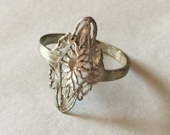 Silver 925 Filigree Ring lot 848
