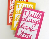 Notebook: I will always love you