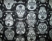 Skulls Fancy Glow In The Dark Cotton Fabric Fat Quarter or Custom Listing