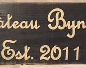 XL CHATEAU Custom French Country HP Sign Plaque Family Name Year Chic Shabby Personalized