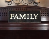 FAMILY Sign Plaque Distressed Rustic Families are Forever Wooden You PIck Color Hand Painted  Gallery Wall Accent
