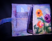 Needle Felted Cell Phone Case, Small Wallet
