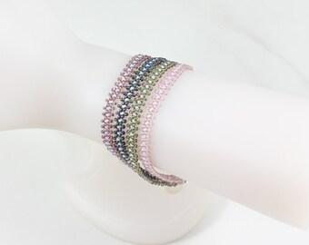 Multi Strand Bracelet - Beaded Bracelet - Daisy Chain Bracelet - Beadwork Jewelry - Layering Jewelry - Seed Bead Bracelet