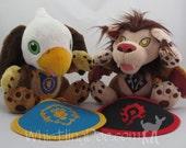 Warcraft Horde or Alliance Infant Embroidered Bib