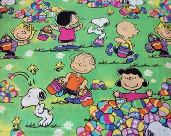 Charlie Brown & Gang Easter Fabric Fat Quarter New BTFQ
