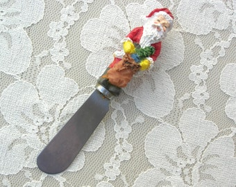 Santa Appetizer Spreader, great holiday party server for spreads, cheese or dips, a cute stocking stuffer or hostess gift