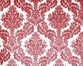 Retro Wallpaper by the Yard 70s Vintage Wallpaper – 1970s Red and White Damask
